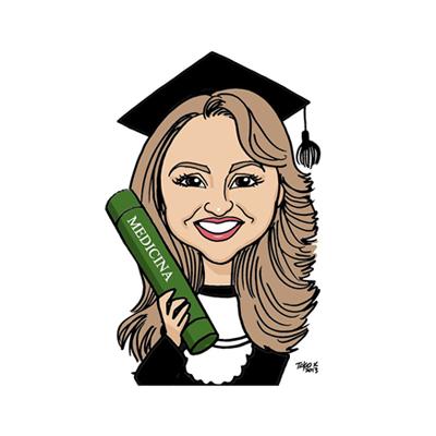 caricatura donna laurea