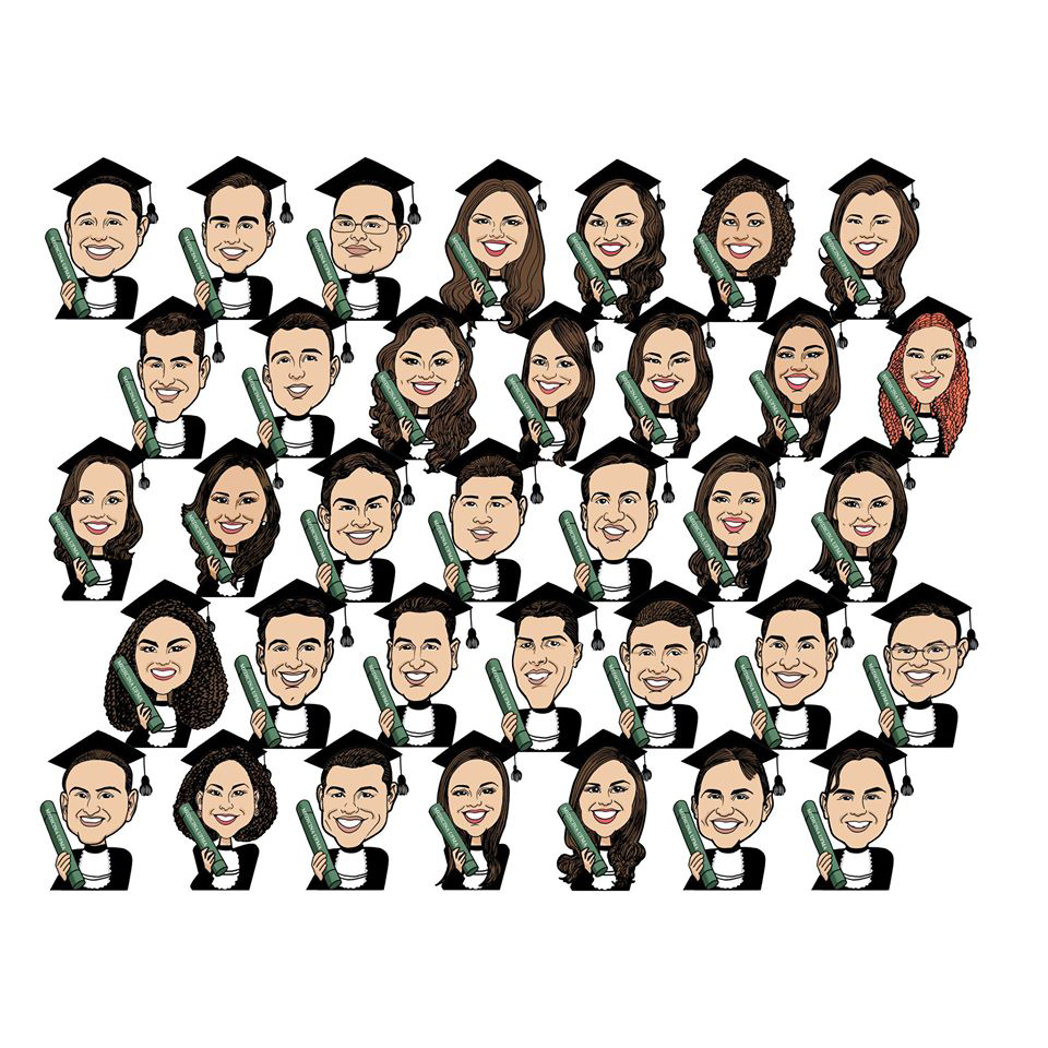 caricatura laurea online