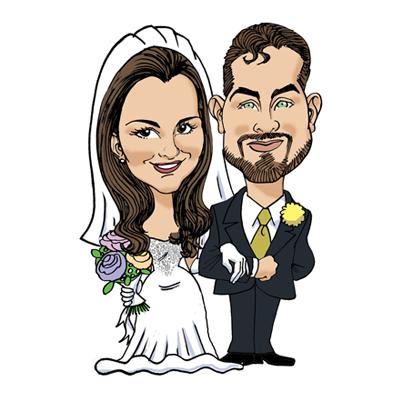 caricatura matrimonio