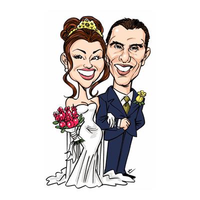 caricatura sposi figura intera