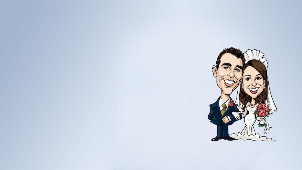 caricature sposi online