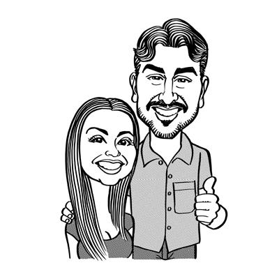 caricature fidanzati