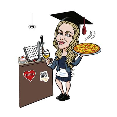 caricature laurea cameriera