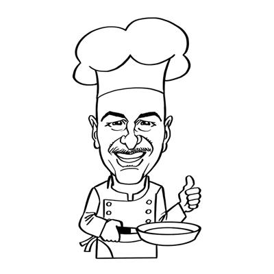 caricatura chef