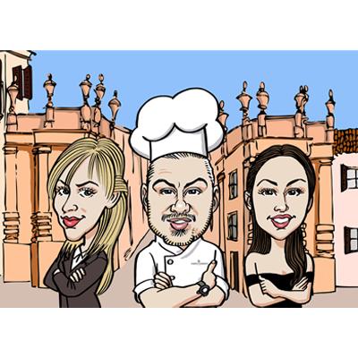 caricatura di gruppo