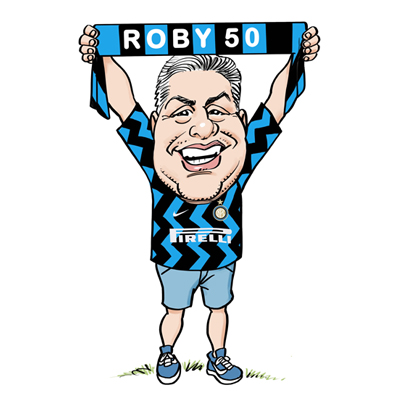 Caricatura 50 anni maglia inter