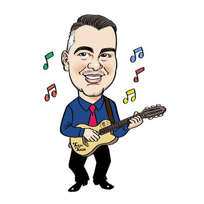 Caricatura chitarrista