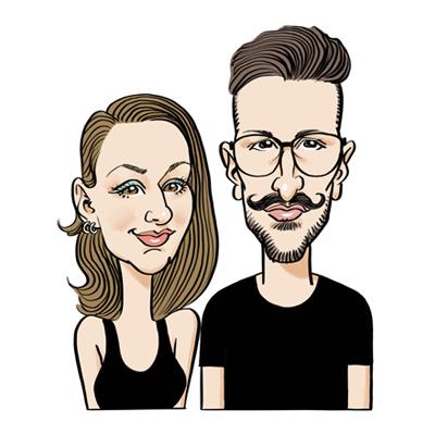 Caricatura coppia