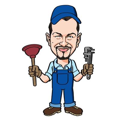 Caricatura idraulico