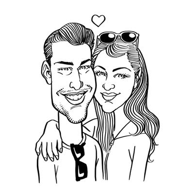 Caricatura innamorati