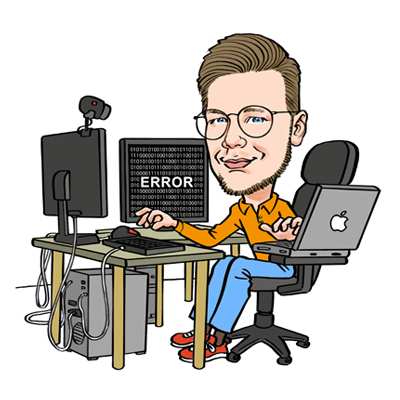 Caricatura laurea informatica