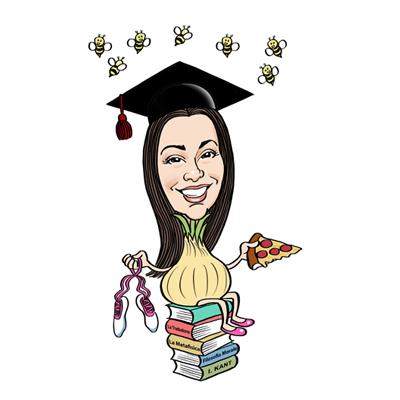 Caricatura ragazza laureata