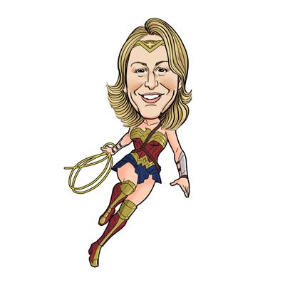 Caricatura wonder woman