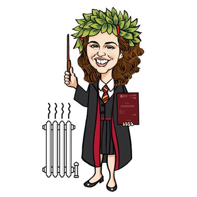 caricatura laurea Harry Potter