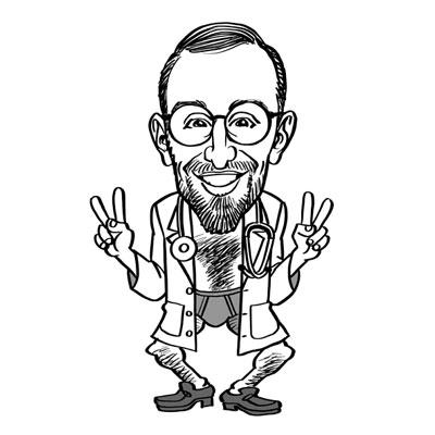 caricatura laurea in medicina