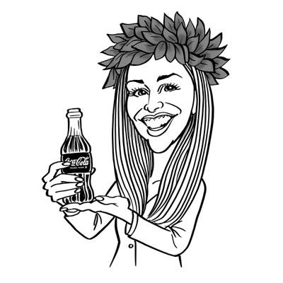 caricatura laurea ragazza