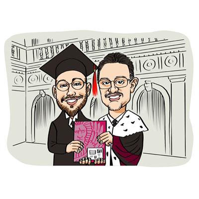 caricatura laureato