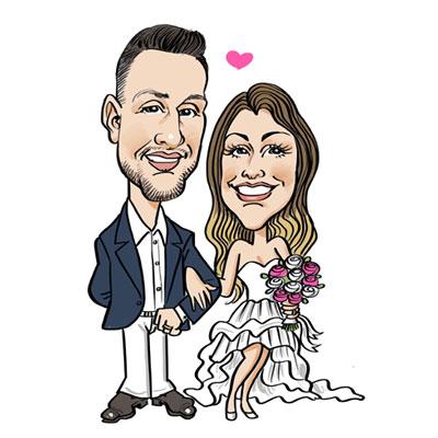 caricatura sposi personalizzata